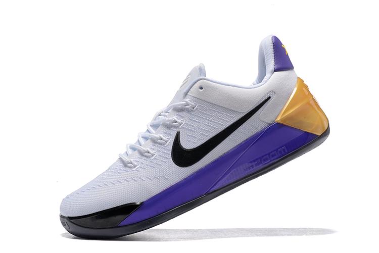 16ea3de4c264 Nike Zoom Kobe AD EP White Black Purple Golden Men Shoes - Febbuy