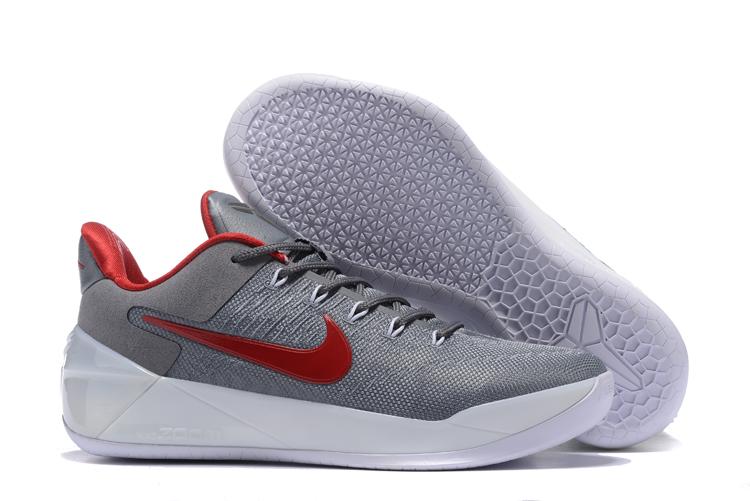 9dc29e97b2db Nike Zoom Kobe 12 AD Grey Red White Men Shoes - Febbuy