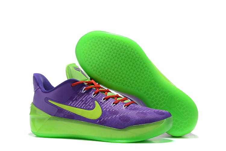 Nike Zoom Kobe 12 AD Purple Green Red Men Basketball Shoes - Febbuy 143842eab081