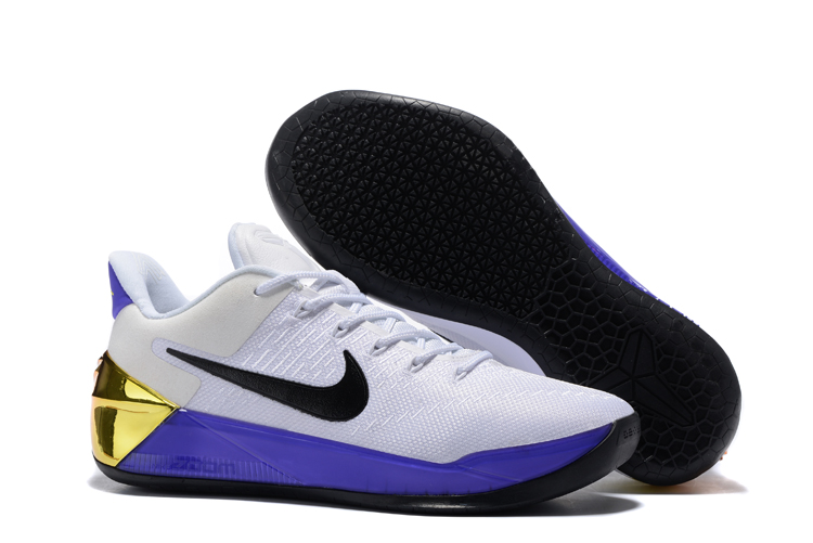 best sneakers a7852 89ec5 Nike Zoom Kobe 12 AD White Black Purple Golden Men Basketball Shoes.jpg