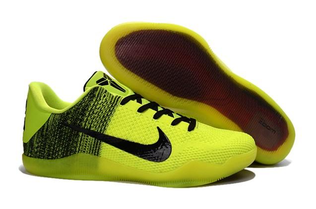 74437855a5af Nike Kobe XI 11 Elite Low ASG All Star Black Flu Green Basketball ...