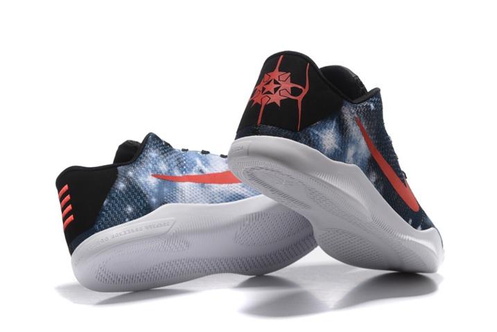 new style ff55a 3b4c1 ... Nike Zoom Kobe XI 11 Elite Galaxy Stars Black Blue Red Men Basketabll  Shoes Glowing 822675