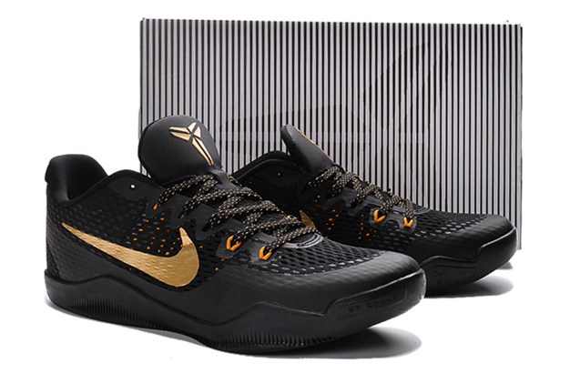 Nike Kobe Xi Ep 11 Low Men Basketball Shoes Em Black Gold 836184
