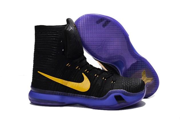 c8ad6671ba5 Prev Nike Kobe X 10 Elite High Kobe Bryant Men Basketball Shoes Black  Purple Yellow 718763. Zoom