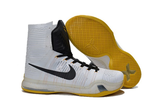 best sneakers cdbb6 ab4ba Prev Nike Kobe X 10 Elite High Kobe Bryant Men Basketball Shoes White Black  Yellow 718763. Zoom. Move your mouse over image or click to enlarge