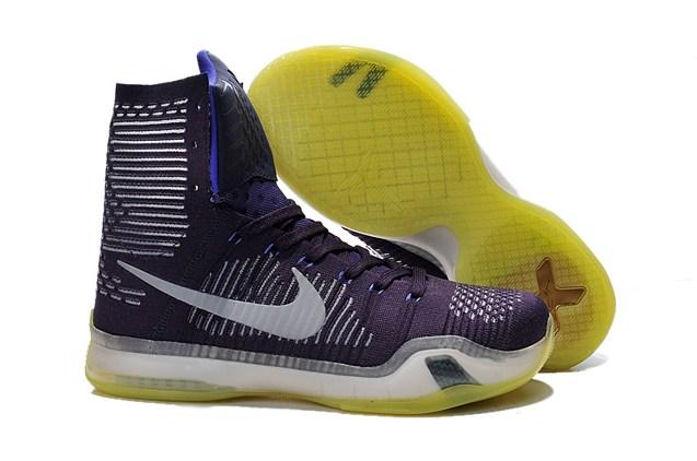 94c19d93a70f Prev Nike Kobe X 10 Elite Team Flyknit High Grand Purple Men Basketball  Lakers 718763 505