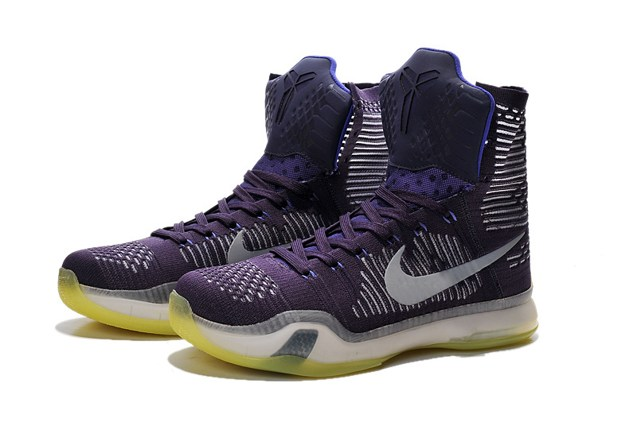 official photos e4fb9 6c6ea 6da2c 3e682  free shipping nike kobe x 10 elite team flyknit high grand  purple men basketball lakers 718763