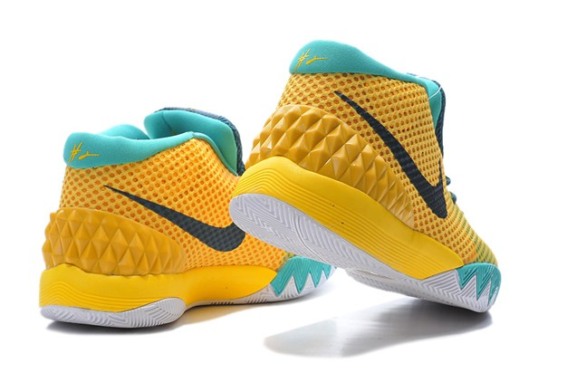 size 40 14a67 301ab ... Nike Kyrie 1 EP Men Basketball Shoes Tour Yellow Teal University Gold  705278 737