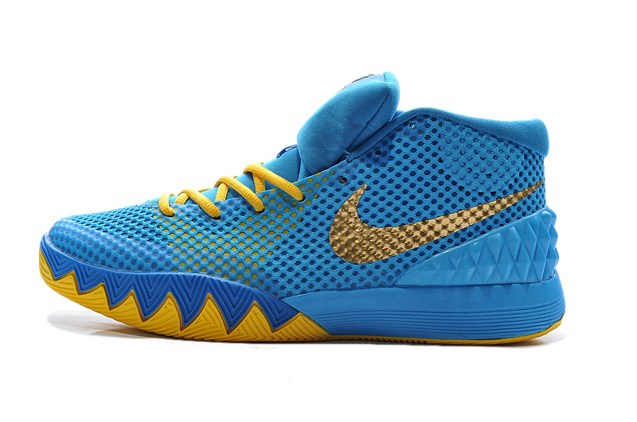 Kyrie Irving Debuts NIKEiD Kyrie 1 - SneakerNews.com  Kyrie 1 Blue And Yellow