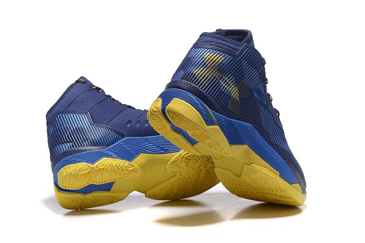 bebc0ef9dc96 ... Nike Kyrie 2.5 Light Yellow Navy Blue Men Shoes Basketball Sneakers  1274425