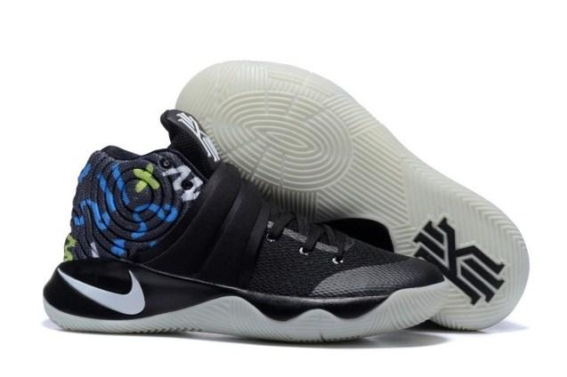 8b7f23abf0fa Nike Kyrie 2 II EP Black Blue Lemon Green White Men basketball Shoes ...