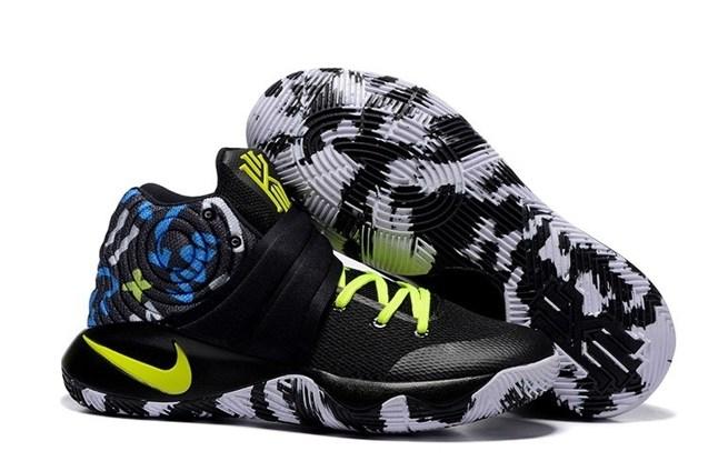 3ee4cfbaee5 Prev Nike Kyrie 2 II EP Black Camo Blue Lemon Green Men basketball Shoes  819583 205. Zoom