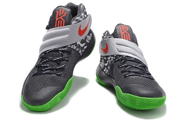 4b033701065 Nike Kyrie 2 II Effect EP Ivring Wolf Grey Green Orange Men basketball Shoes  819583 208