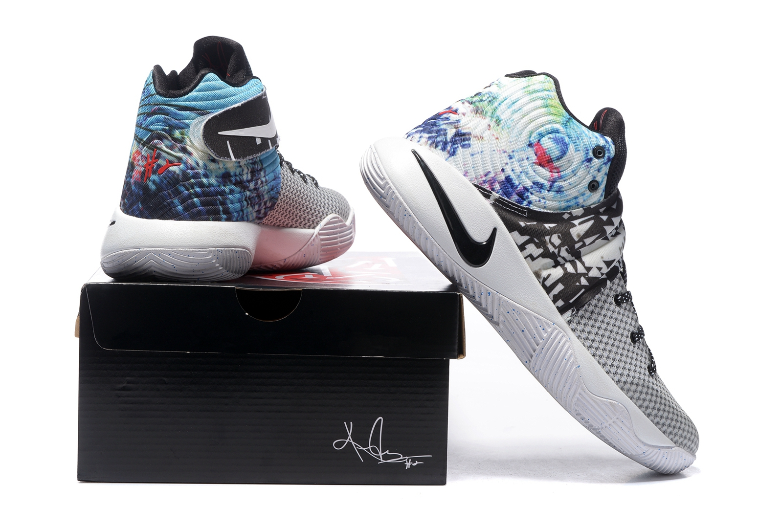 low cost 6d632 713a0 Nike Kyrie II 2 Irving Effect Tie Dye Men Shoes Basketball Sneakers  819583-901