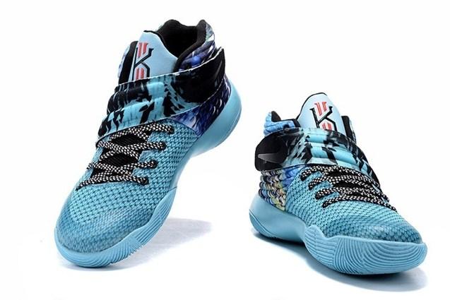 sale retailer 90982 8d21a Nike Kyrie II 2 Tie Dye Effect Light Blue Black Multi Color Shoes 819583  Unisex