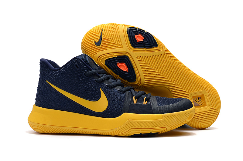 6ce66ff661e7 Prev Nike Zoom Kyrie 3 EP Navy Blue Yellow Unisex Basketball Shoes. Zoom