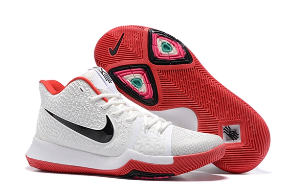 dcfb22278df0 Prev Nike Zoom Kyrie 3 III White Black Red Men Basketball Shoes 852395. Zoom