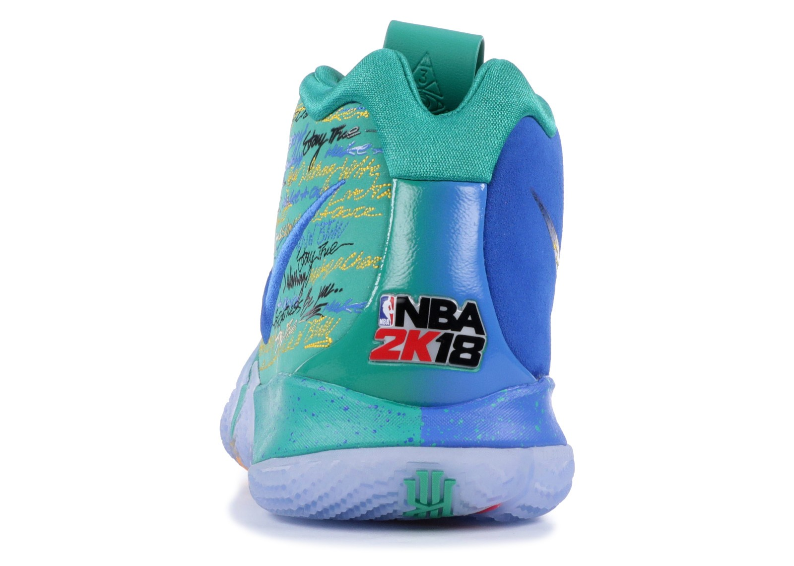 4ac91e20790d Kyrie 4 NBA 2k18 Friends And Family University Green Blue 860844-868 ...