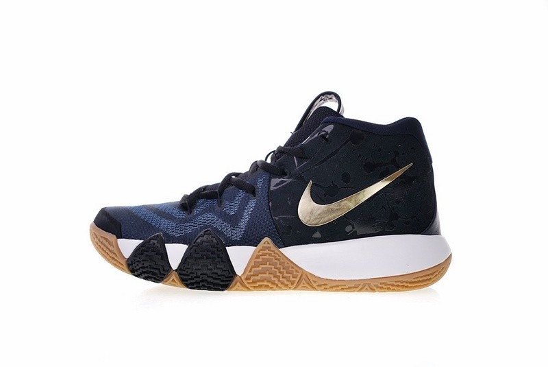 a89296bba06c Prev Nike Kyrie 4 Pitch Blue Metallic Gold Basketball Shoes 943807-403. Zoom