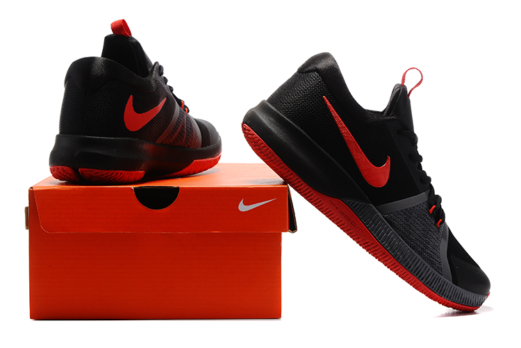 f2cdc1c8d2ff Nike Zoom Assersion EP Men Basketball Shoes Black Orange 911090 - Febbuy