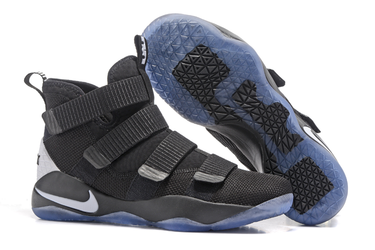 9c6e5278082 Nike Zoom LeBron Soldier XI 11 Black White Men Basketball Shoes - Febbuy