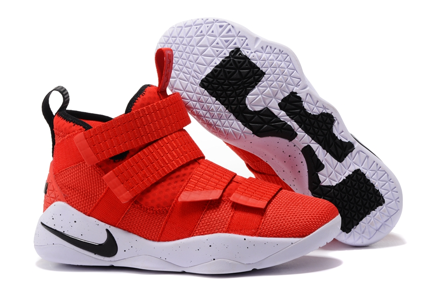 2ec6ae9463c Nike Zoom LeBron Soldier XI 11 Men Basketball Shoes Bright Red White ...