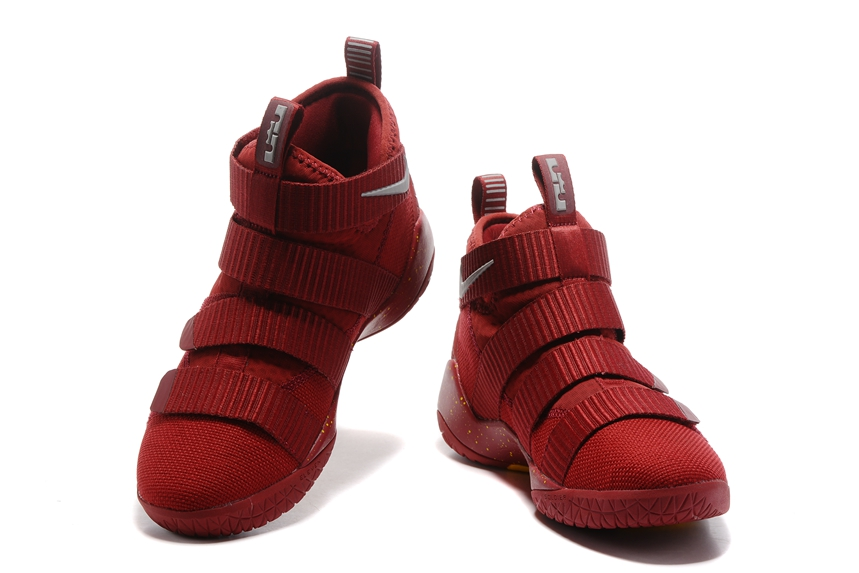 7319f5f9192 ... Nike Zoom LeBron Soldier XI 11 Men Basketball Shoes Chinese Red Yellow  Silver 897645 ...