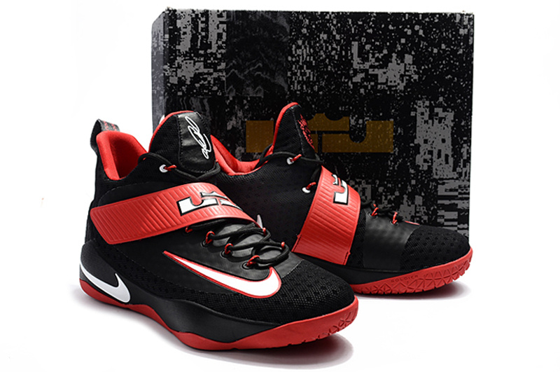 ec13ef145a427 Nike Zoom Lebron Soldier 11 XI black red white Men Basketball Shoes - Febbuy