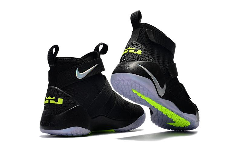 c646b96bc83 Nike Zoom Lebron Soldiers XI 11 black ice Men Basketball Shoes - Febbuy