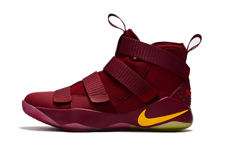2a9fe866e1a ... free shipping nike zoom lebron soldiers xi 11 knight red yellow youth  big kid shoes febbuy