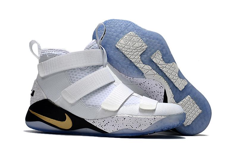 bf2bb7d2c6e Nike Zoom Lebron Soldiers XI 11 white black gold Men Basketball ...