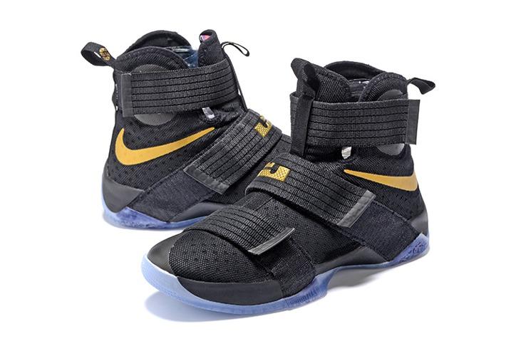 promo code db1e1 b5a9c Mens Nike Basketball Shoes Blue Purple Lebron Soldier 10 Sky Nike Lebron  Soldier 10 EP Basketball Shoes 2016 Finals Black Gold 844375-806 ...