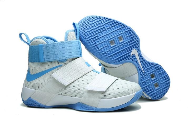 lowest price 5649b 8c927 Nike Lebron Soldier 10 EP X James Kay Yow Basketball Shoes White ...