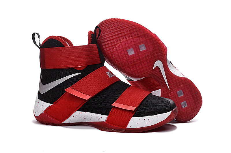 nike lebron soldier 10 all white red
