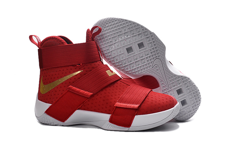 f1020875613 Prev Nike Lebron Soldier 10 X White Royal Red Gold Basketball Shoes Men  Sneaker 856882. Zoom