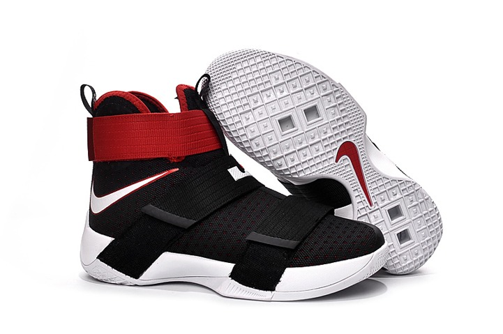 1ef154caa2ec Nike Lebron Zoom Soldier X 10 Black University Red White 844374-016 ...