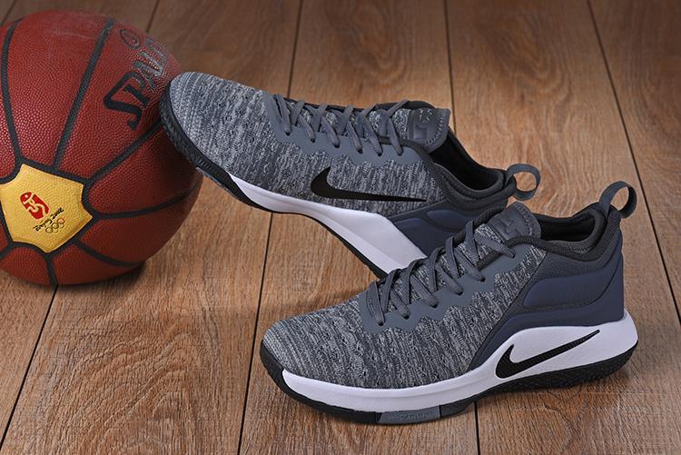 c7f933db8ac ... Nike Zoom LEBRON Witness 2 FLYKNIT Men Basketball Grey Black White ...