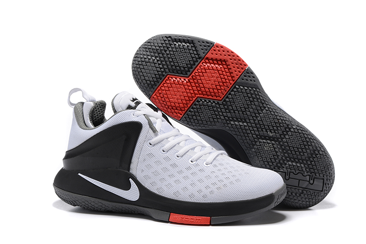 buy online b1a3c 651fb Nike Zoom Witness Lebron James White Black Grey Basketball Shoes ...