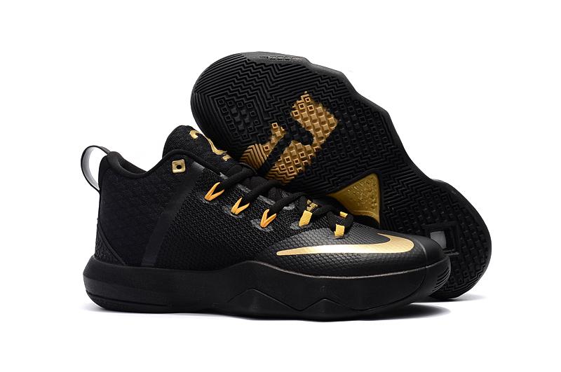 release date: 33ff6 58bf2 Nike Ambassador IX 9 Lebron Jame Black Golden Men Basketball Shoes ...