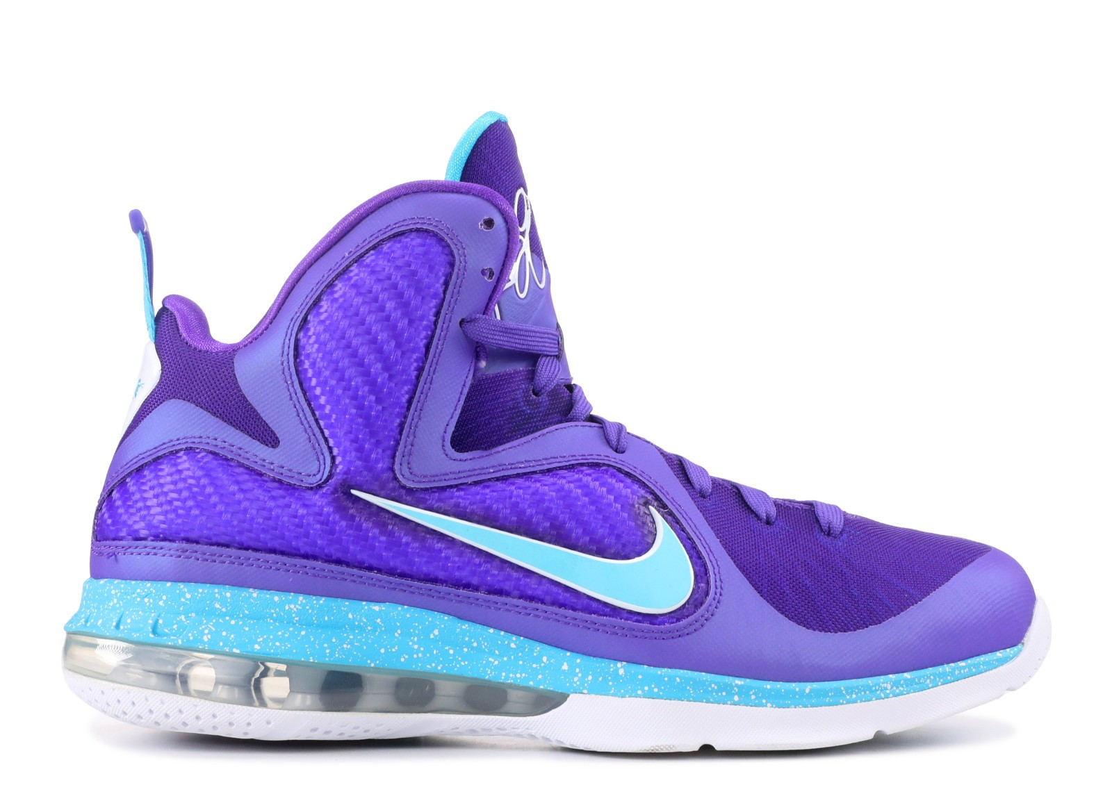 pretty nice 3dbc5 c929d Prev Lebron 9 Summit Lake Hornets Purple Blue Turquoise White Pure 469764- 500