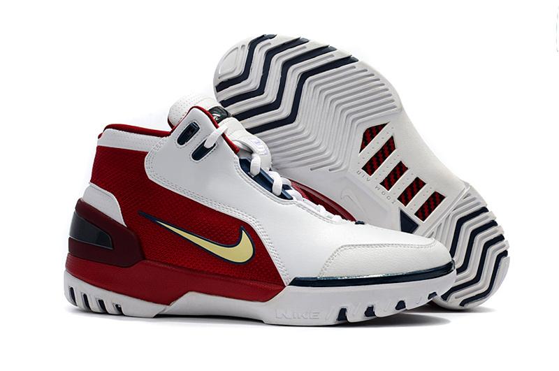 c095986b45e5 Prev Nike Zoom Lebron I 1 white red blue Men Basketball Shoes. Zoom