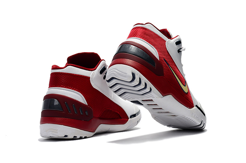 8eca7d539913 Nike Zoom Lebron I 1 white red blue Men Basketball Shoes - Febbuy