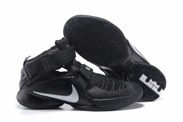 separation shoes 7a105 e95a9 Nike Lebron Soldier IX 9 Black Metallic Silver Men Basketball Shoes  749417-001