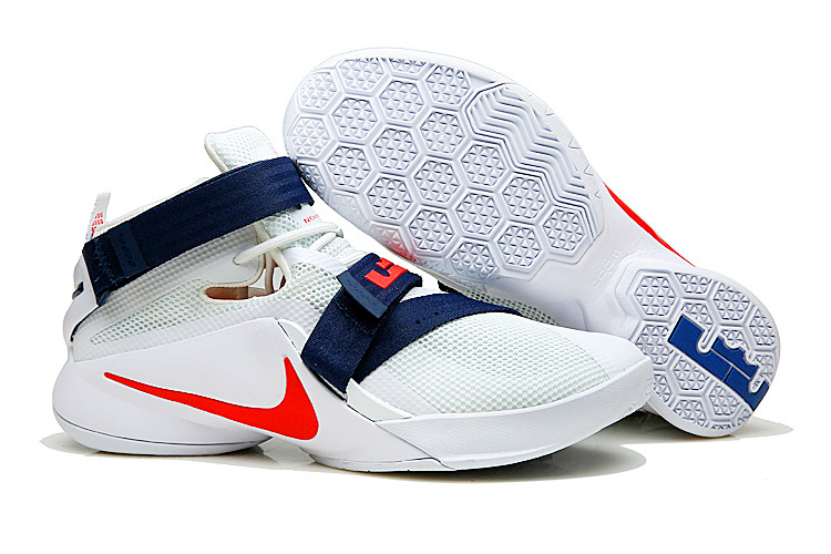 83a1d80ec20 Prev Nike Zoom Soldier 9 IX White Red Blue USA Teams Men Basketball  Sneakers Shoes 749417. Zoom