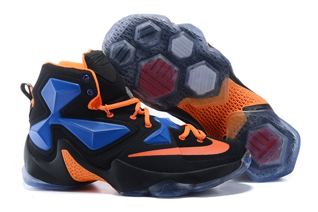 8a1e1a16fa7f Prev Nike LeBron 13 EP XIII James Basketball Shoes Black Orange Blue 823301