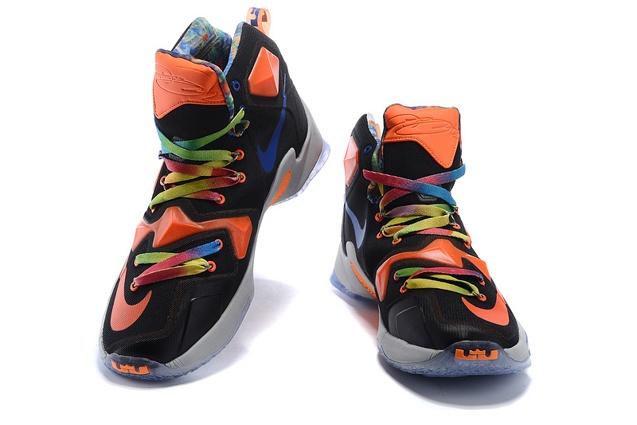 6e70f0d1f79d ... Nike LeBron 13 EP XIII James Basketball Shoes Black Orange Multi Color  823301 ...