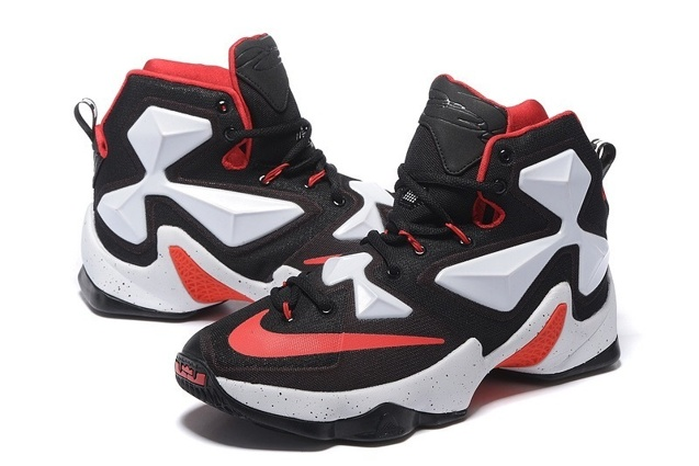 9a1fa53bc9a8 ... Nike LeBron 13 EP XIII James Basketball Shoes Black White Red 823301 ...