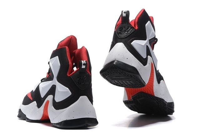 d9c5df7be1ab Nike LeBron 13 EP XIII James Basketball Shoes Black White Red 823301 ...