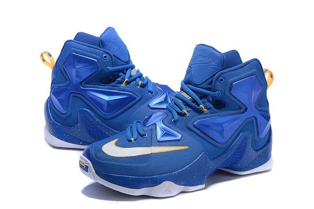 8e3829124b651 Nike Lebron XIII 13 Balance Men Basketball Shoes White Atomic Laser Orange  Royal Blue 807219 418