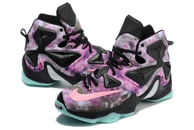 52b6905087f ... Nike Lebron XIII LBJ13 AS All Star Purple Green Black Men Basketball  Shoes 835659 ...